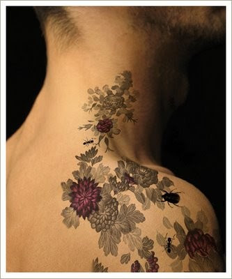 Flowers Tattoos are often highly valued among women looking for their first