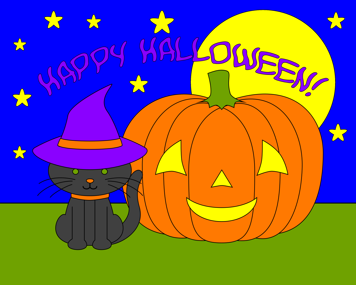Another Halloween Coloring Page