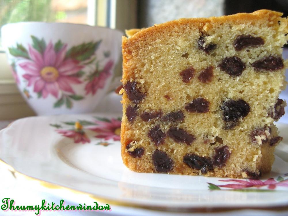Through My Kitchen Window: A Good Sultana Cake