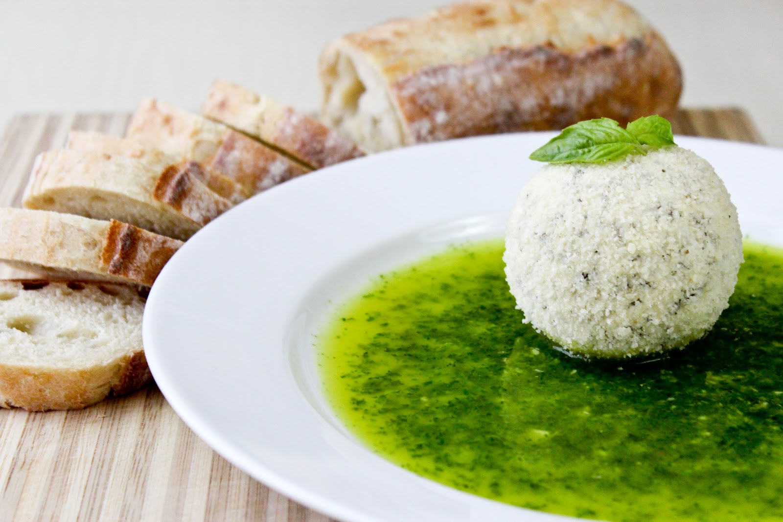 From Dahlias to Doxies: Parmesan Coated Goat Cheese with Basil Oil