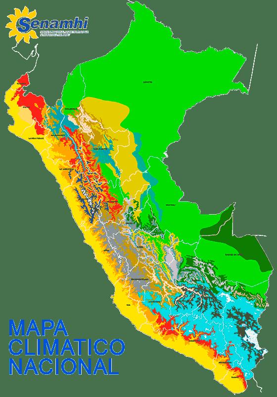 Peru Climate zones map