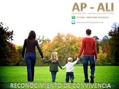 RECONOCIMIENTO DE CONVIVENCIA  (PARA SER HEREDERO DEL CONVIVIENTE)