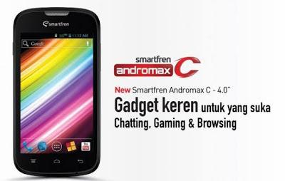 Smartfren Andromax C, Handphone Android Dual Core CDMA-GSM