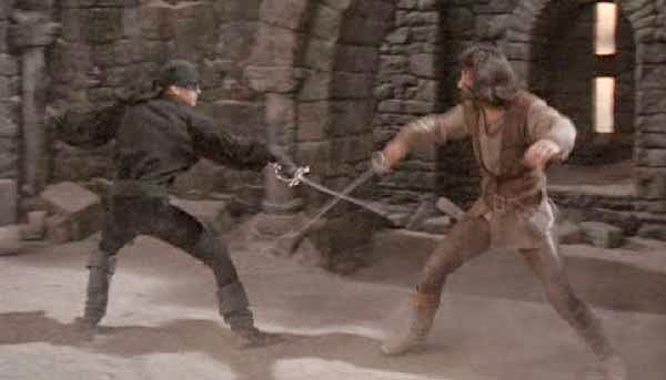 Inolvidable combate entre pirata Roberts y el espadachín Iñigo