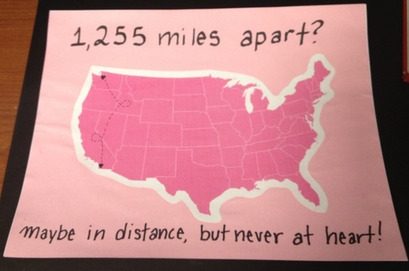 post grad crafting long distance card