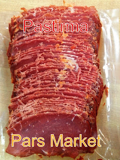 Sliced Pastirma at Pars Market Columbia Maryland 21045