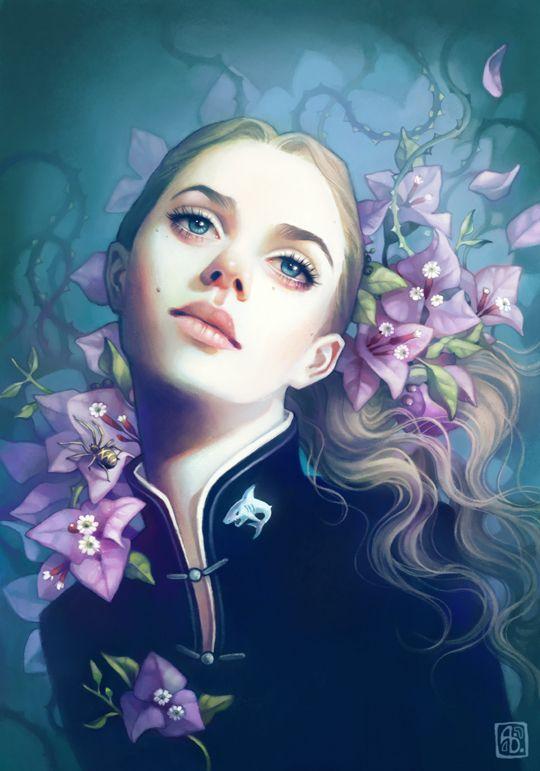 Anna Dittmann escume deviantart ilustrações belas singelas surreal mulheres Jacey