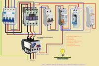 como conectar contactor trifasico reloj horario manual/automatico