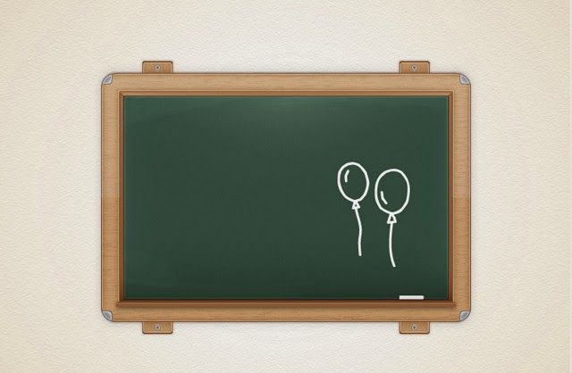 Detailed Vector Chalkboard Icon