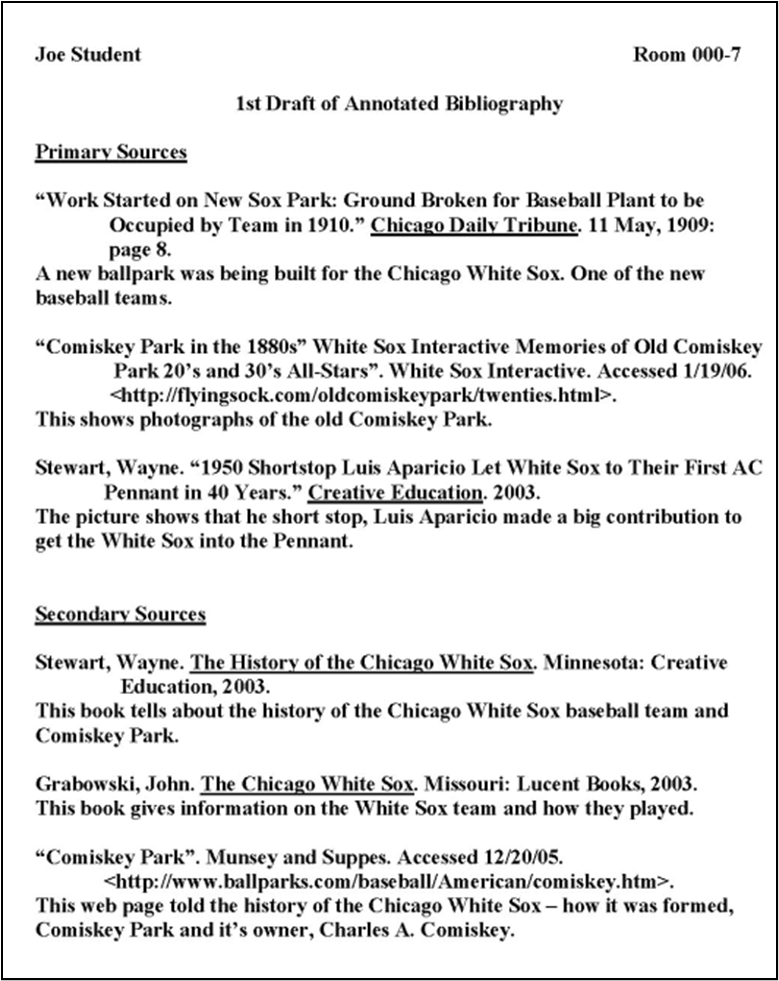bibliography example national history day   Coursework