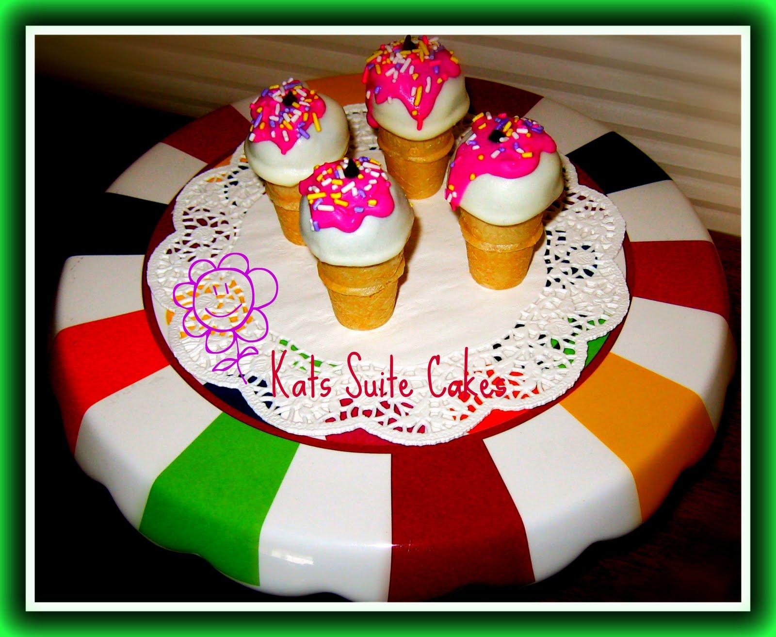Cake Decorating Ice Cream Cones : Ice Cream Cone Cake Balls Kats Suite Cakes