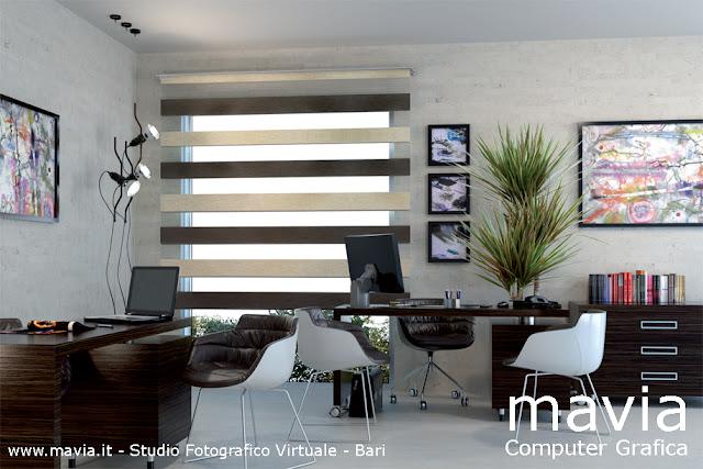 Arredamento di interni modellazione 3d e rendering 3d tenda da interno modello a pannello - Tende interni design ...
