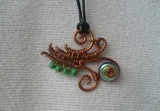 Copper Freestyle Swirl Pendant  by LisaGuess