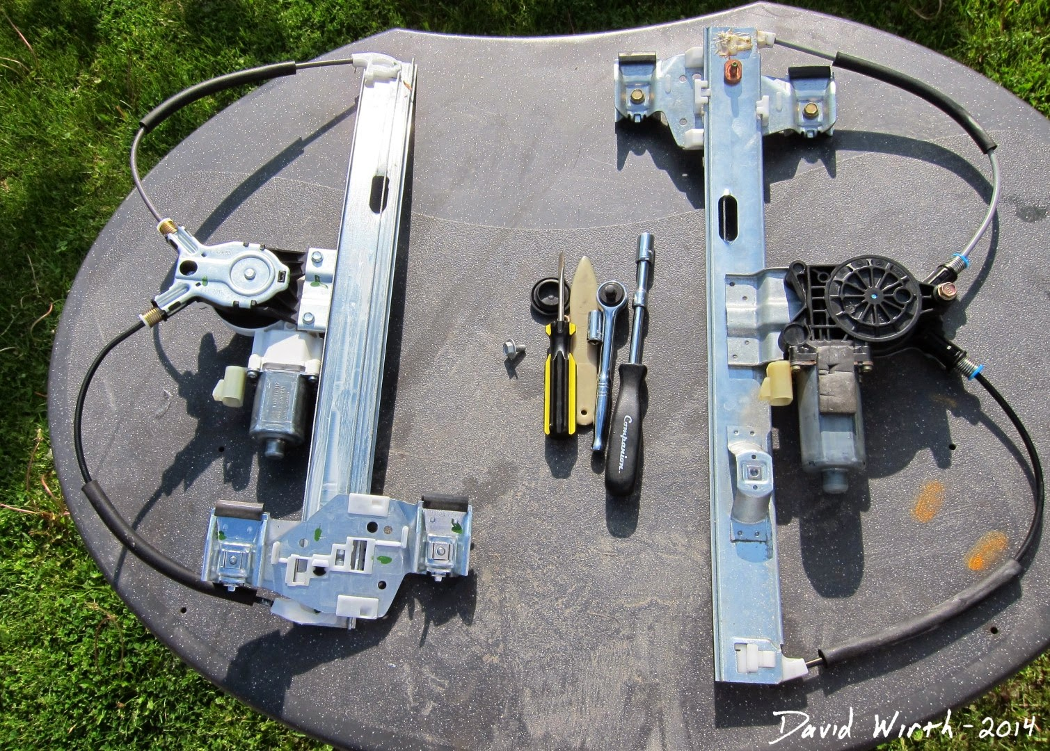 gm window regulator, pontiac, rear, drivers side