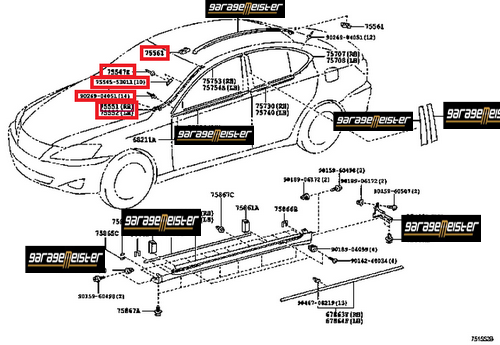 lexus is 250 body diagram html