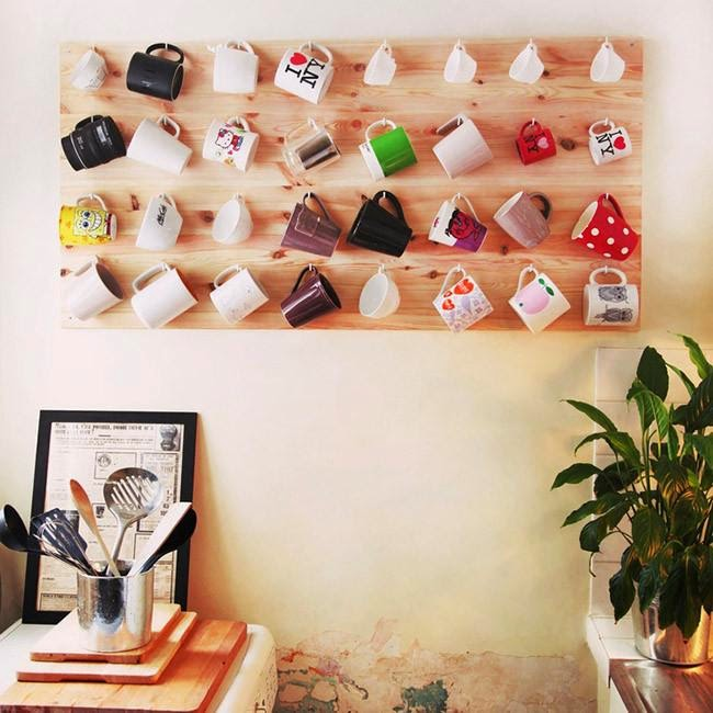 decorar con tazas