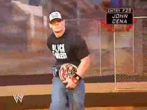 John Cena Word Life US Champion spinner belt entrance Royal Rumble 2005