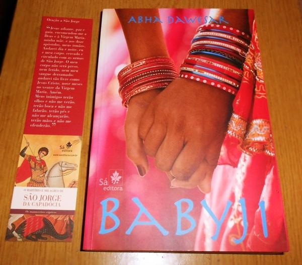 Livro Babyji da autora Abha Dawesar , Sá Editora, marcador de livros