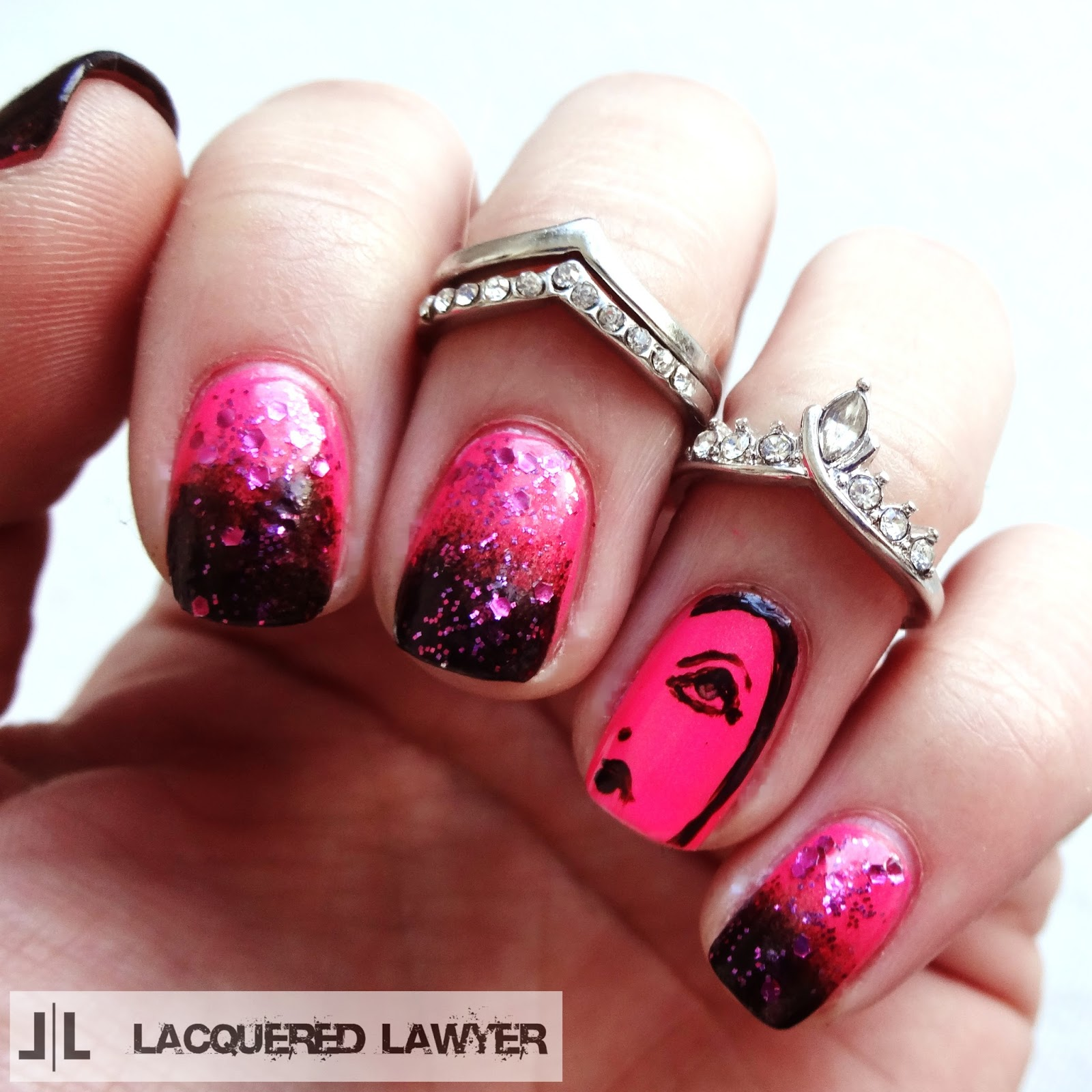 Evil Queen Nail Art from Snow White
