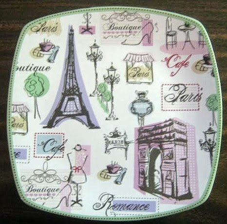 Pastel Paris Decorative Plate.