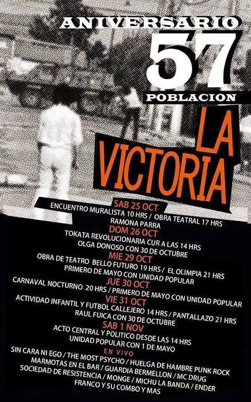 PAC: 57 ANIVERSARIO POBLACIÓN LA VICTORIA