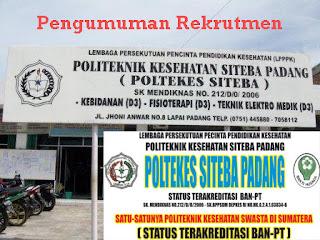 Politeknik Kesehatan Siteba Padang Karir Januari 2013 Posisi Dosen & Administrasi