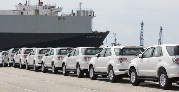 First 8 Months 2015, exports Toyota Reaches 122,000 Units
