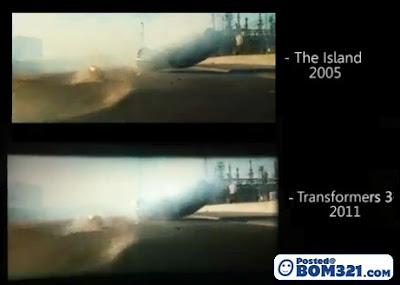 Filem Transformers 3 Menggunakan Semula Babak Filem The Island