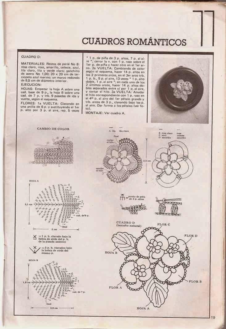 #54 Cuadros Romaticos a Crochet