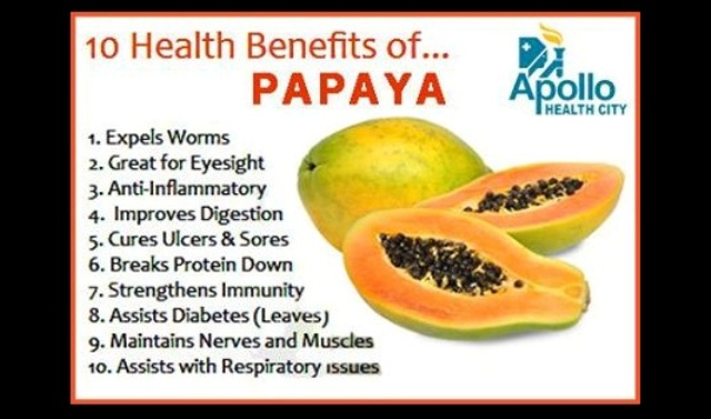 health benifits of papaya