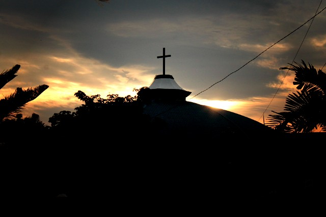 Sunset at Our Lady of Lourdes, Bangkal