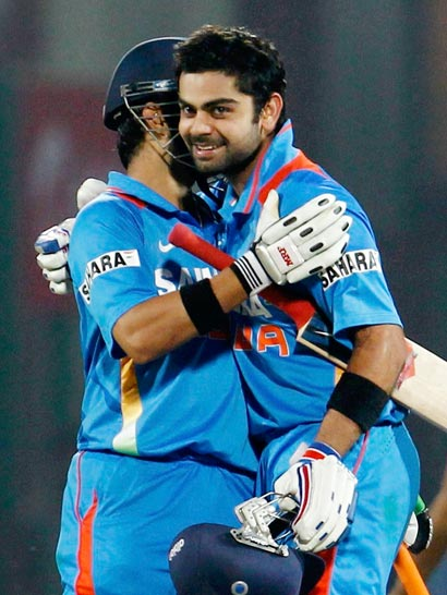 india england 2nd odi virat and gambhir