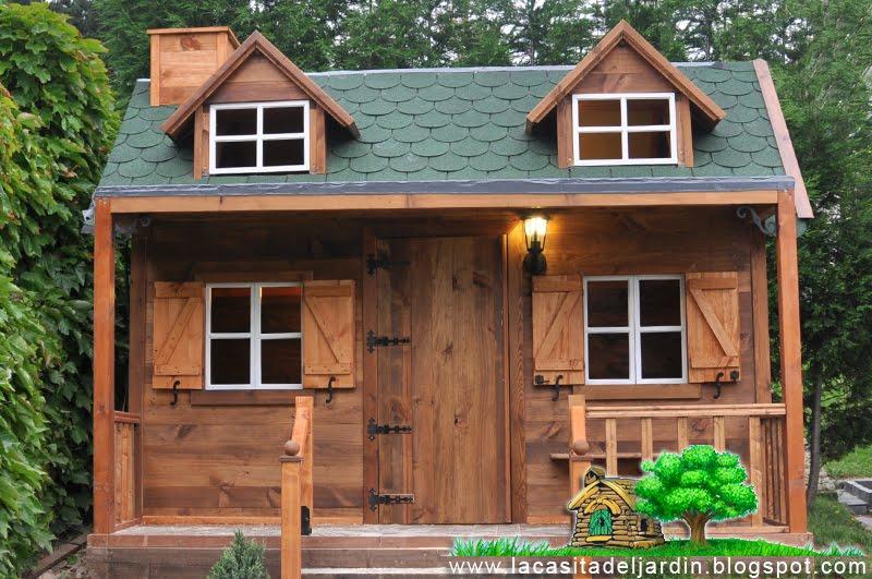 D a 26 la chimenea la casita del jard n construcci n - Casas de madera por dentro ...
