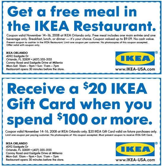 IKEA Coupon & Promo Codes. no offers in December, Coupon Codes / Home & Garden / Furniture How to use a IKEA coupon Wisteria Coupon Code Free Shipping. Design Within Reach Coupon. Rooms to Go Coupons. Bjs Coupons. West Elm Coupon. The Classy Home Coupon.