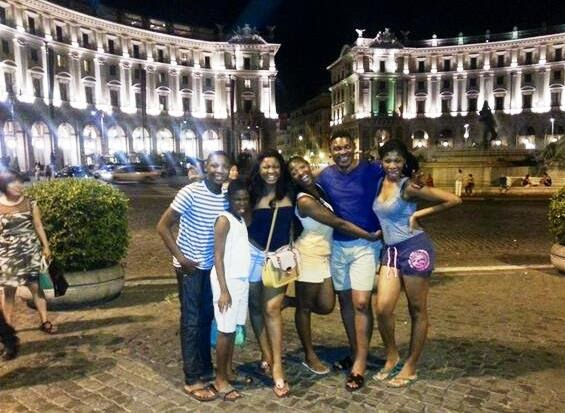 Picture of Actress Omotola Jalade and Family on Vacation in Rome chiomaandy.com