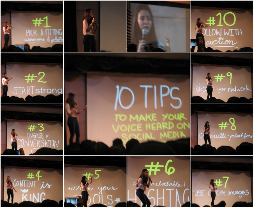 Bianca Gonzales - 10 tips to make your voice heard on social media