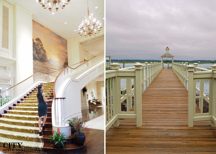 kiawah island golf resort fashion style, aritzia, winding staircase