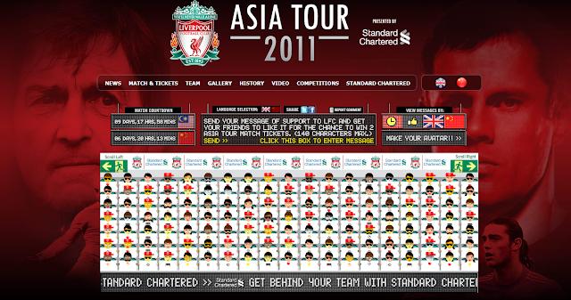 Liverpool Malaysia tour 2011