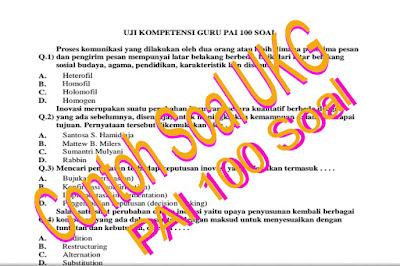 Download Contoh Soal dan Latihan UKA/UKG 2015 Guru PAI dan PJOK