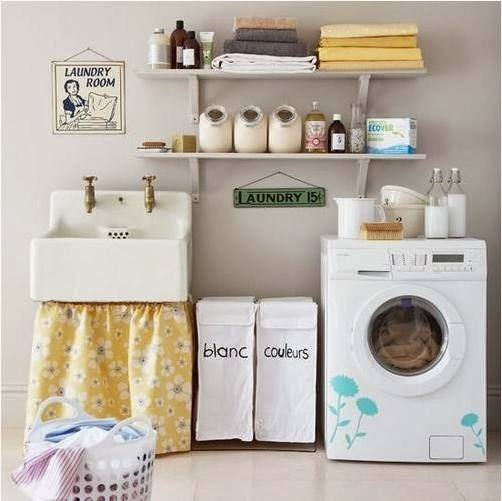 Laundry room decorating ideas home decorating ideas for Decorate a laundry room
