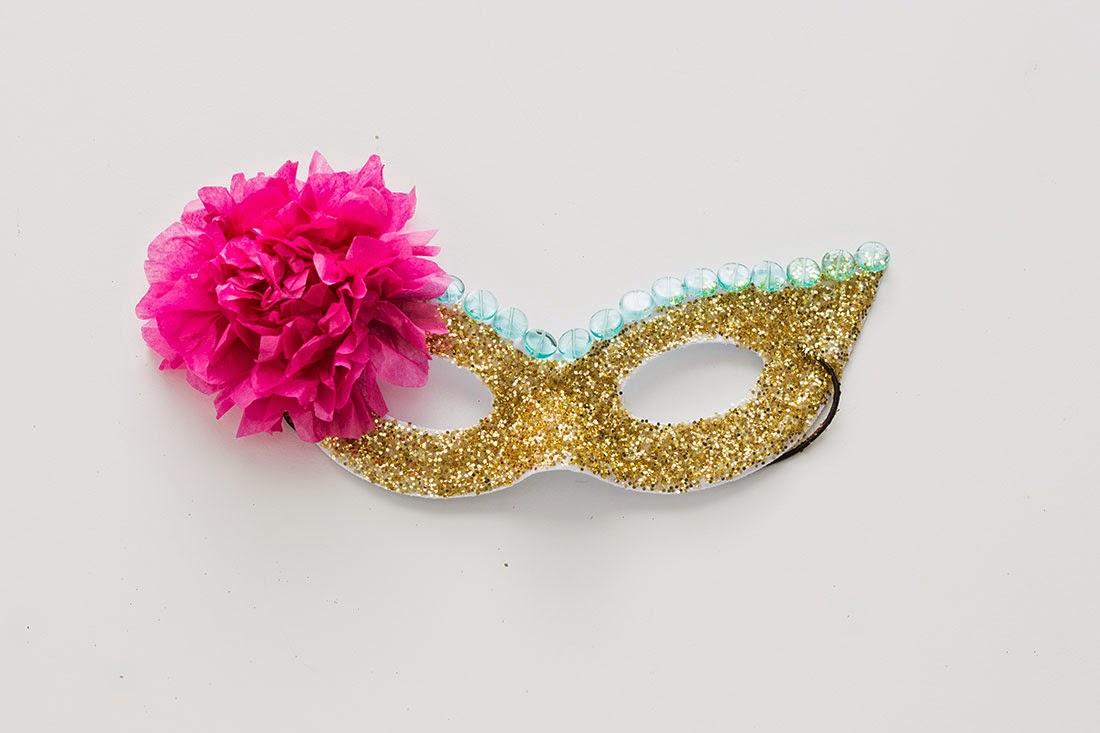 Mascara para Halloween con Escarcha