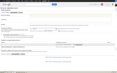 Programando evento hangout en Google Calendar