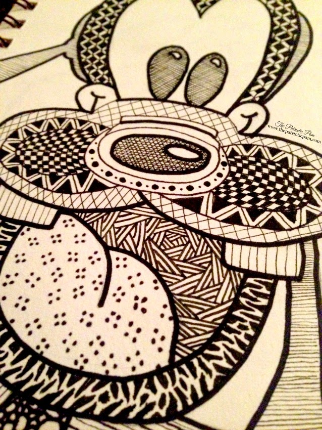 sketchbook, tangle, doodle art, drawing, disney