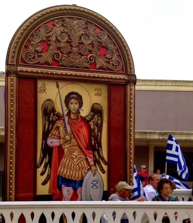 The floats depicted Greek history & culture.