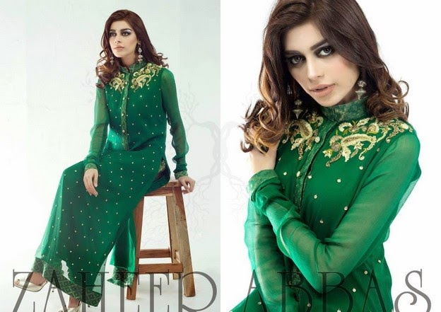 Zaheer Abbas Eid Collection 2014 wwwfashionhuntworldblogspot 8  - Zaheer Abbas Eid Collection 2014 For Women