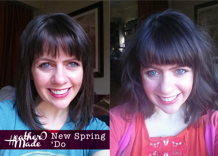 spring haircut. textured bob. bangs