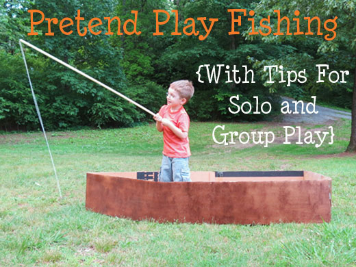Pretend to fish with tips for solo and group play