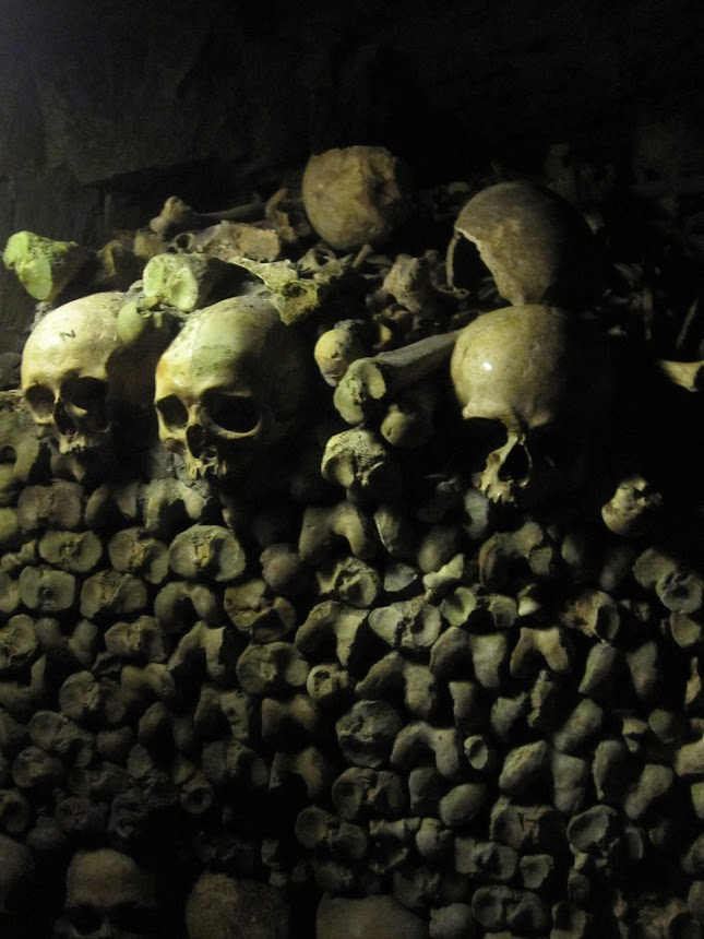 "Call it maturity (ugh !) , i visit for the first time 20 years later the official catacombs of Paris  and i love it !!!!  ""Catacombs is an underground ossuary in Paris. Located south of the former city gate (the ""Barrière d'Enfer"" at today's Place Denfert-Rochereau), the ossuary holds the remains of about six million people and fills a renovated section of caverns and tunnels that are the remains of Paris's stone mines."""