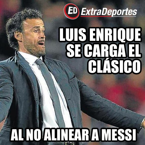 Luis Enrique Meme Real Madrid vs Barcelona