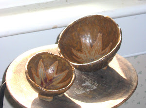 pinch pots in window